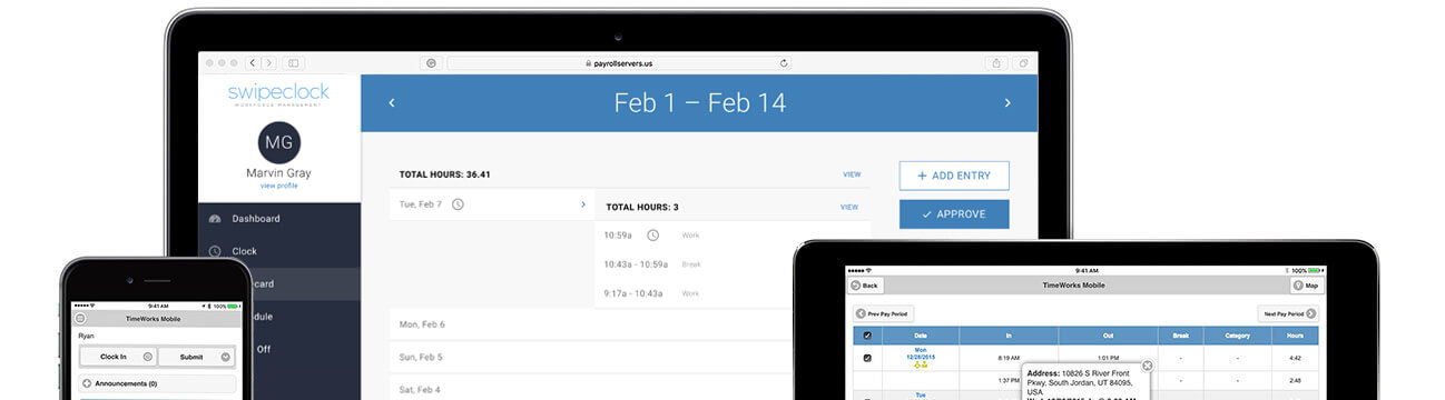 cloud based employee time and attendance tracking timeworksplus