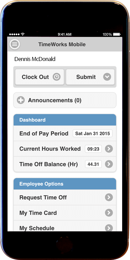 like most apps timeworks mobile brings together the best of timekeeping for supervisors and end users from employee self service ess functions like time - Time Card App