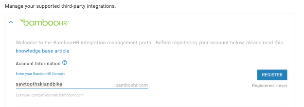 Bamboohr-integration-management-portal