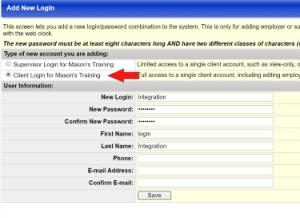 Adaptasoft Swipeclock Client Login