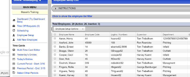 Adaptasoft Swipeclock TimeWorksPlus Employee View