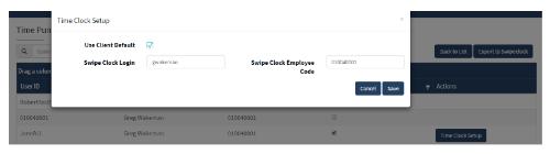 ThinkWare DNet2.0 Time Clock Setup Screenshot