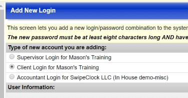 TimeWorksPlus client login screenshot