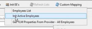 Initializing Employees to SwipeClock
