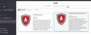 Screenshot of TimeWorksPlus in the Shugo HUB LOFT store