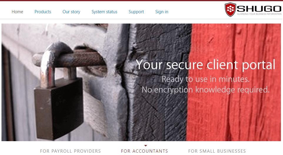 Shugo Homepage Screenshot