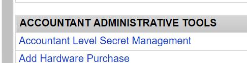 TimeWorksPlus Accountant menu screenshot