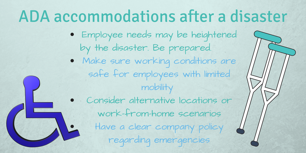 ADA accommodations after a natural disaster Infographic