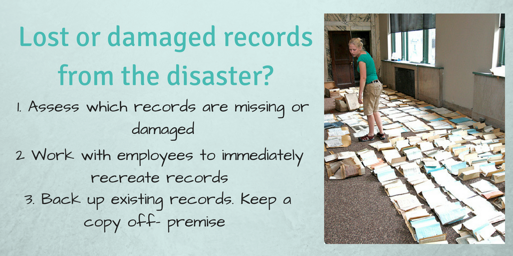 How to deal with damaged records after a hurricane Infographic