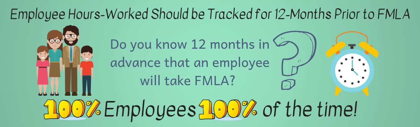 Employee Hours-Worked Should be Tracked for 12-Months Prior to FMLA Infographic