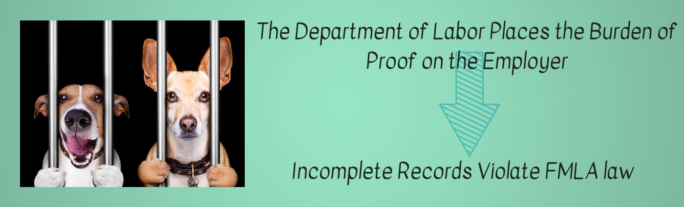 The Department of Labor Places the Burden of Proof on the Employer infographic